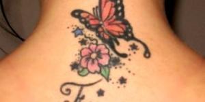 Mariposa, Flor e Inicial de Nombre