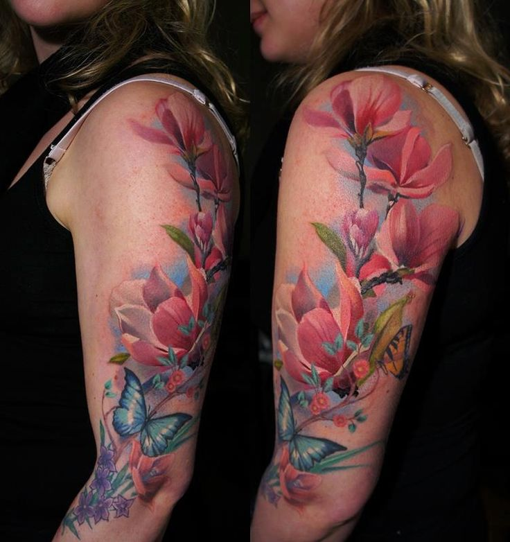 Mariposas Flores Tatuajes Para Mujeres