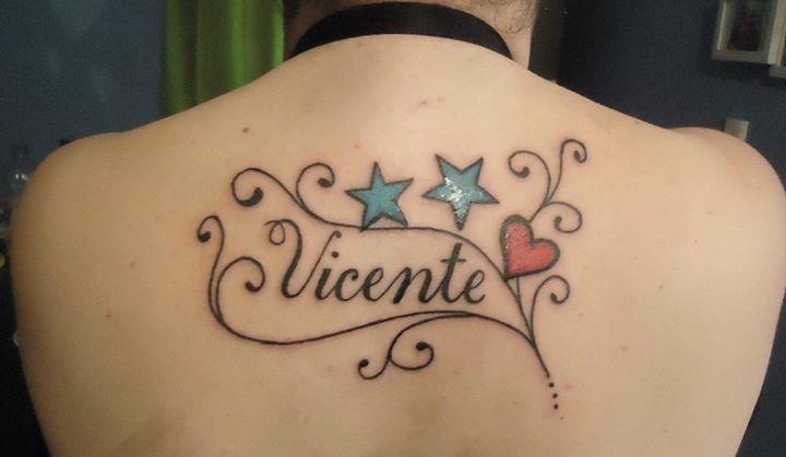 Nombre De Hijo Con Estrellas Firuletes Y Corazon Tatuajes Para - Tatuajes-de-estrellas-con-nombres