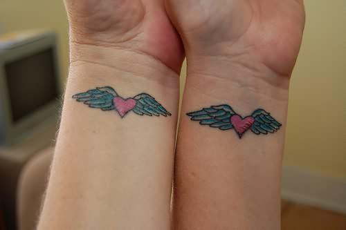 Corazón Con Alas Para Parejas Tatuajes Para Mujeres