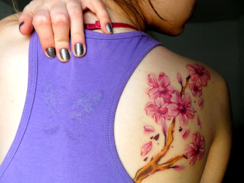 Tatuajes De Arbol De Cerezo
