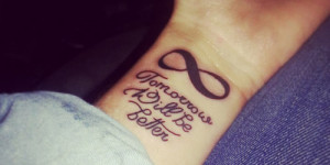 Frase: Tomorrow will be better y Signo Infinito
