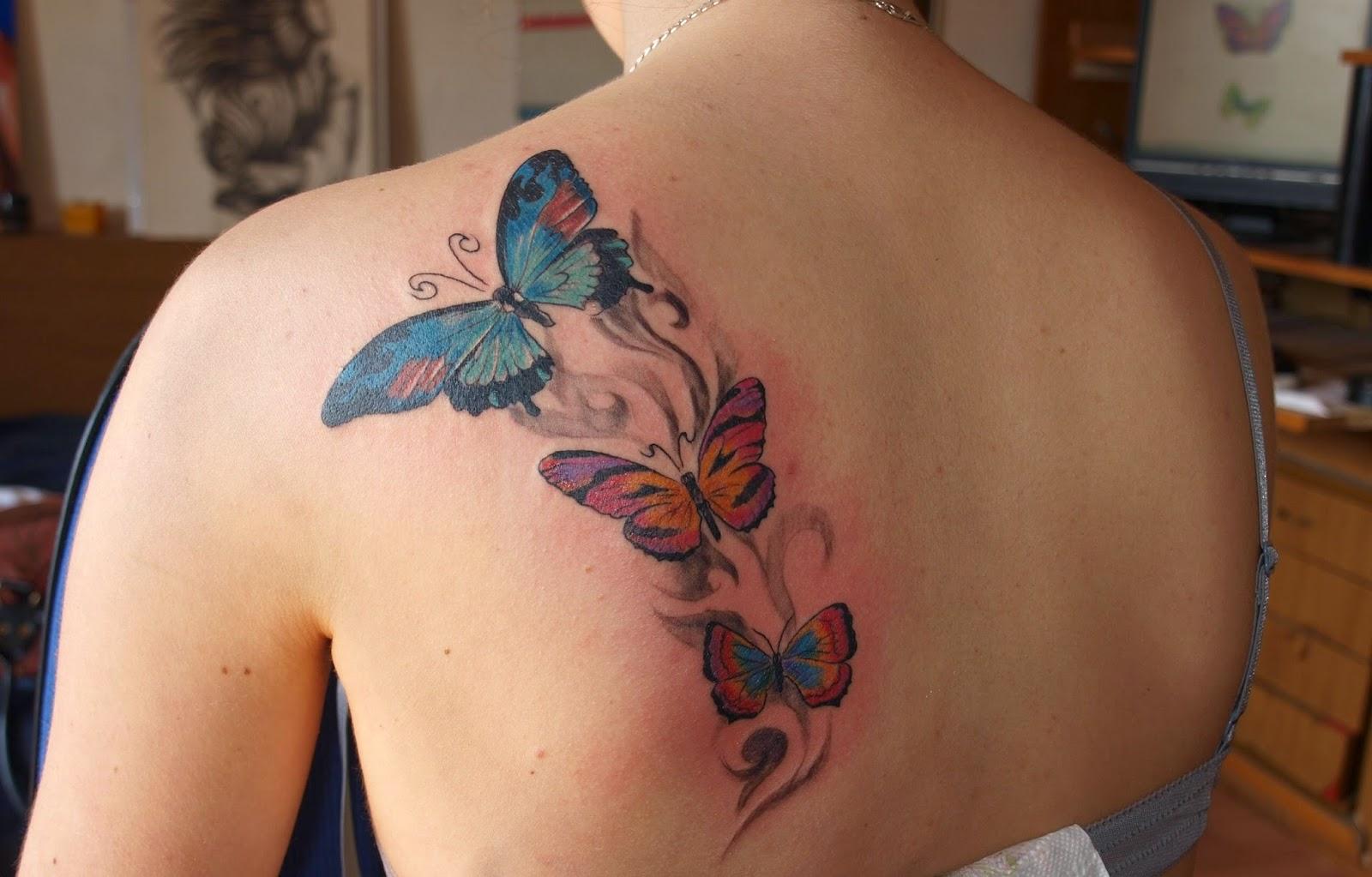 Mariposas tatuajes para mujeres - Tatuajes de pared ...