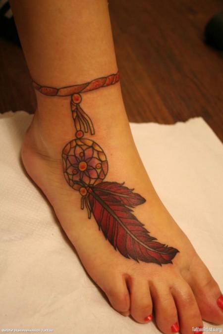 Atrapasueños Con Pluma Tatuajes Para Mujeres