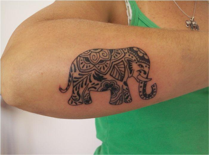 Elefante hind 250 tatuajes para mujeres