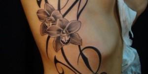 Flor Orquídea con Firuletes
