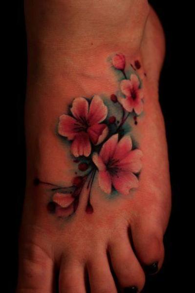 Flor De Cerezo O Sakura Tatuajes Para Mujeres