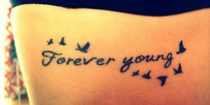Frase: Forever Young y Aves