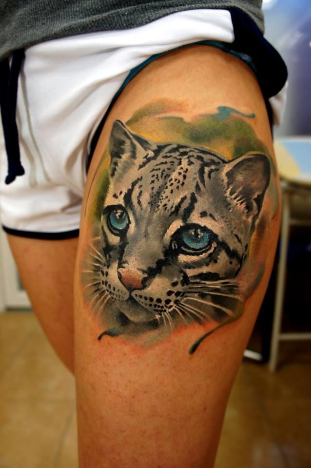Tatuajes Gatos Para Mujeres gato montés - tatuajes para mujeres
