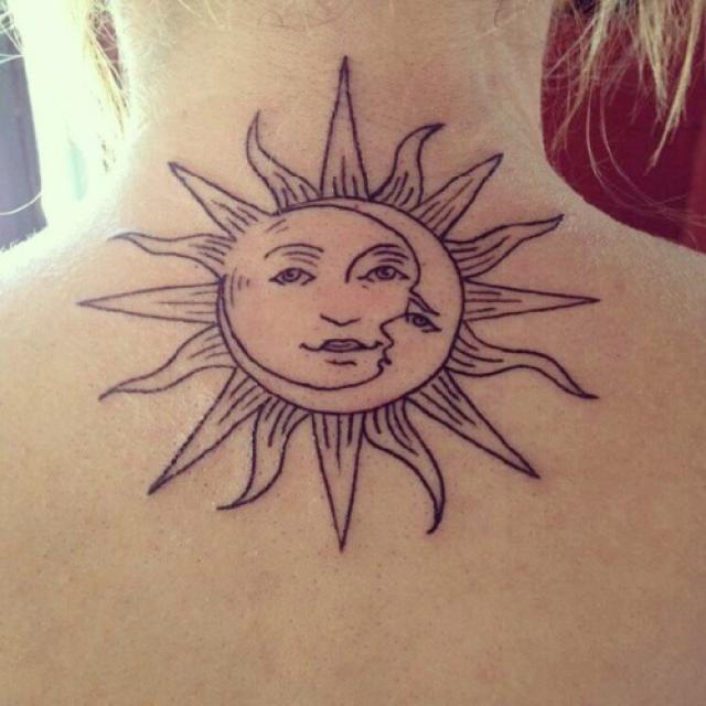 Luna Sol Tatuajes Para Mujeres