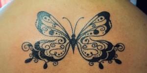 Mariposa en la espalda