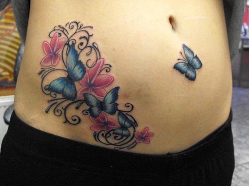 Mariposas Flores Y Firuletes Tatuajes Para Mujeres