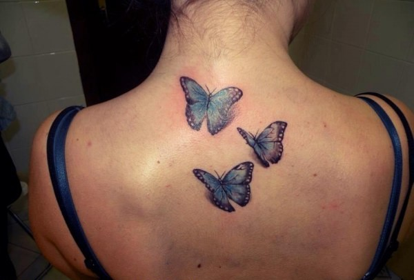 Mariposas 3d Tatuajes Para Mujeres