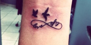 Signo Infinito, Frase: Love & Life, Aves