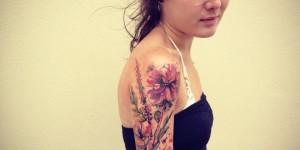 Flores en Acuarelas by Ondrash tattoo