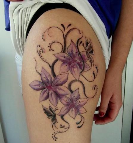 Flores Mariposa Tatuajes Para Mujeres