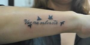 Frase: Vos me salvaste y Aves volando