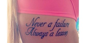 Frase: Never a failure, Always a lesson