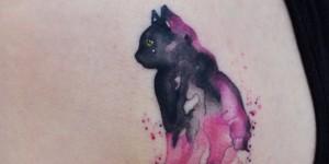 Gato en Acuarelas by Javi Wolf