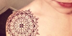 Mandala Gotas en el Hombro