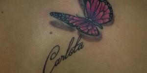 Mariposa 3D & Nombre