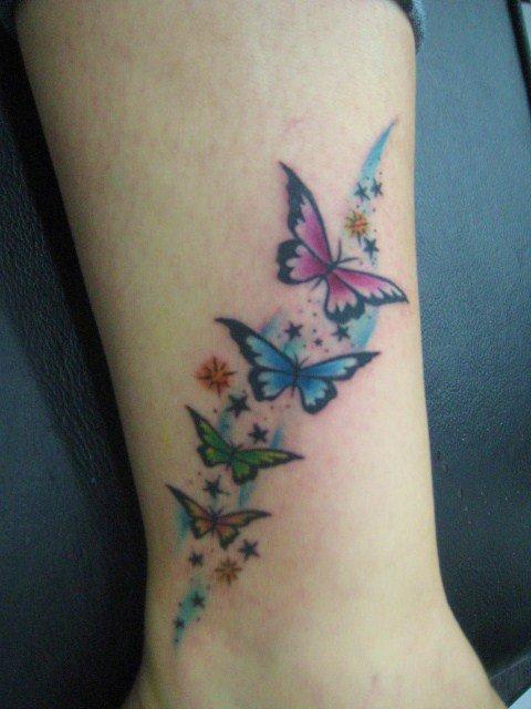 Mariposas Estrellas Tatuajes Para Mujeres