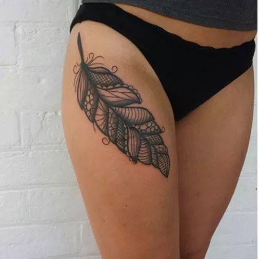 Pluma  Tatuajes Para Mujeres