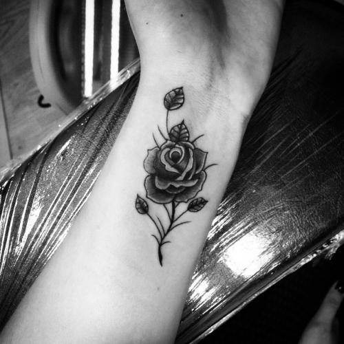 Flor Rosa Tatuajes Para Mujeres