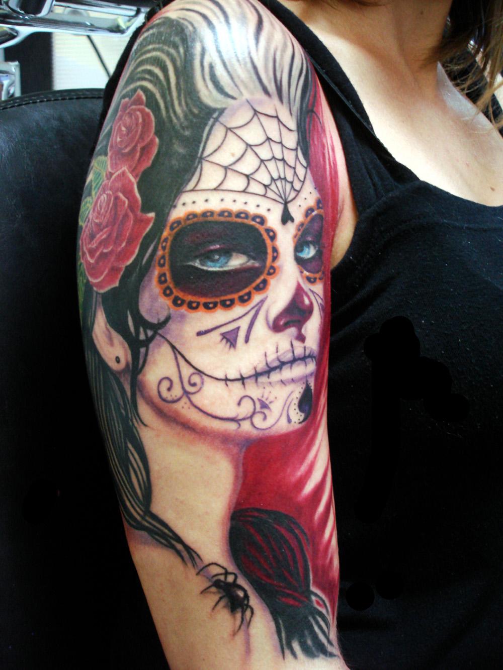 Catrina mexicana tatuajes para mujeres for Tattoos mexicanos fotos
