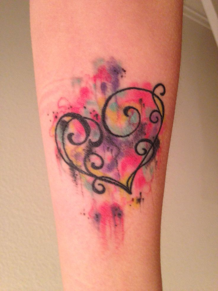 Coraz n en firuletes acuarelas tatuajes para mujeres for Black is the new color