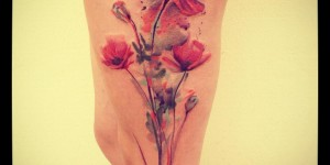 Flores de Amapola by Ondrash tattoo