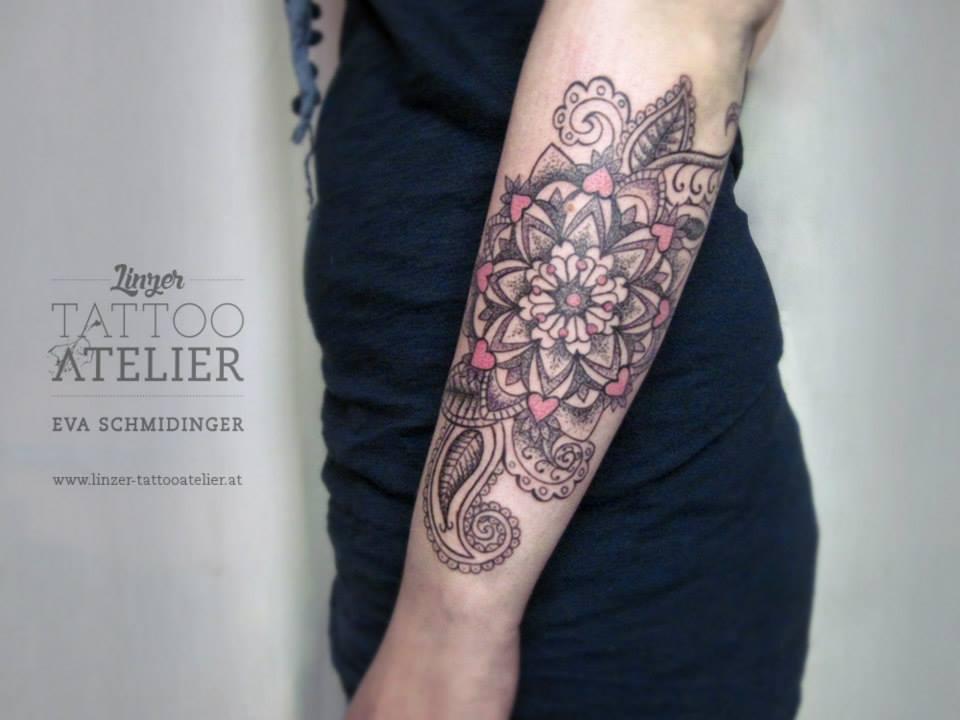 Mandala Brazalete By Eva Schmidinger Tatuajes Para Mujeres - Tatuajes-de-brazaletes-para-el-brazo