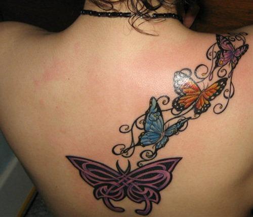 Mariposas Entrelazadas Tatuajes Para Mujeres