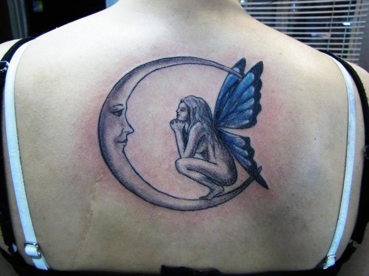 Hada Mirando La Luna Tatuajes Para Mujeres