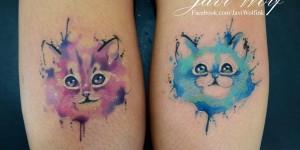 Gatitos en Acuarelas by Javi Wolf