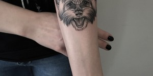 Perro by Sashatattooing