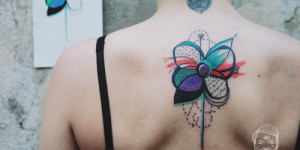 Flor en Acuarelas by Bumpkin Tattoo
