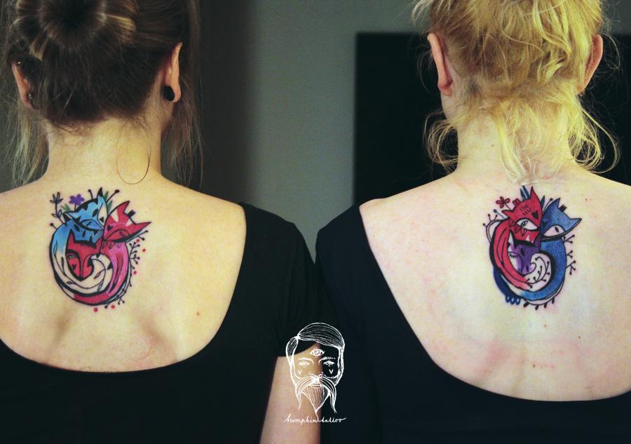 Zorro familia by Bumpkin Tattoo - Tatuajes para Mujeres
