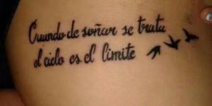 Frase: Cuando de soñar se trata el cielo es el límite y Aves