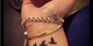 Signo Infinito, Aves y Frase: Love