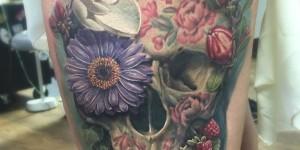 Calavera, Flores y Frutas by David B Kaye