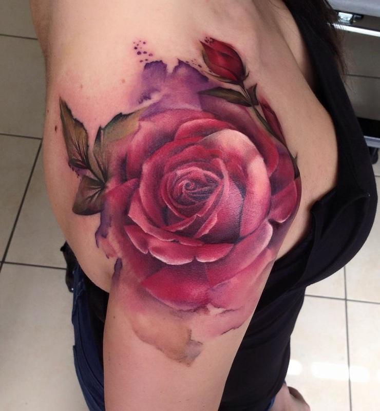 Tatuajes De Flores En El Hombro 3d Sfb