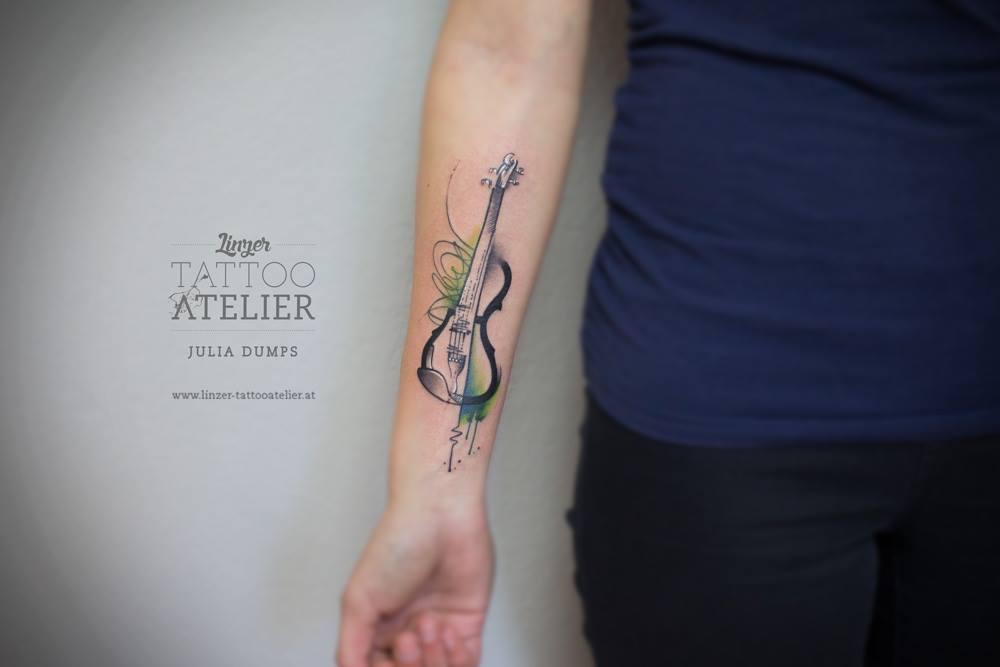 Imagenes Tatuajes Violin violin en acuarelasjulia dumps - tatuajes para mujeres