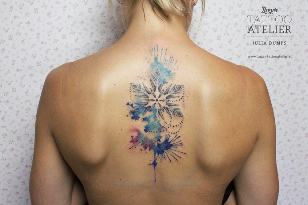 Copo De Nieve Estilo Acuarelas By Julia Dumps Tatuajes Para Mujeres