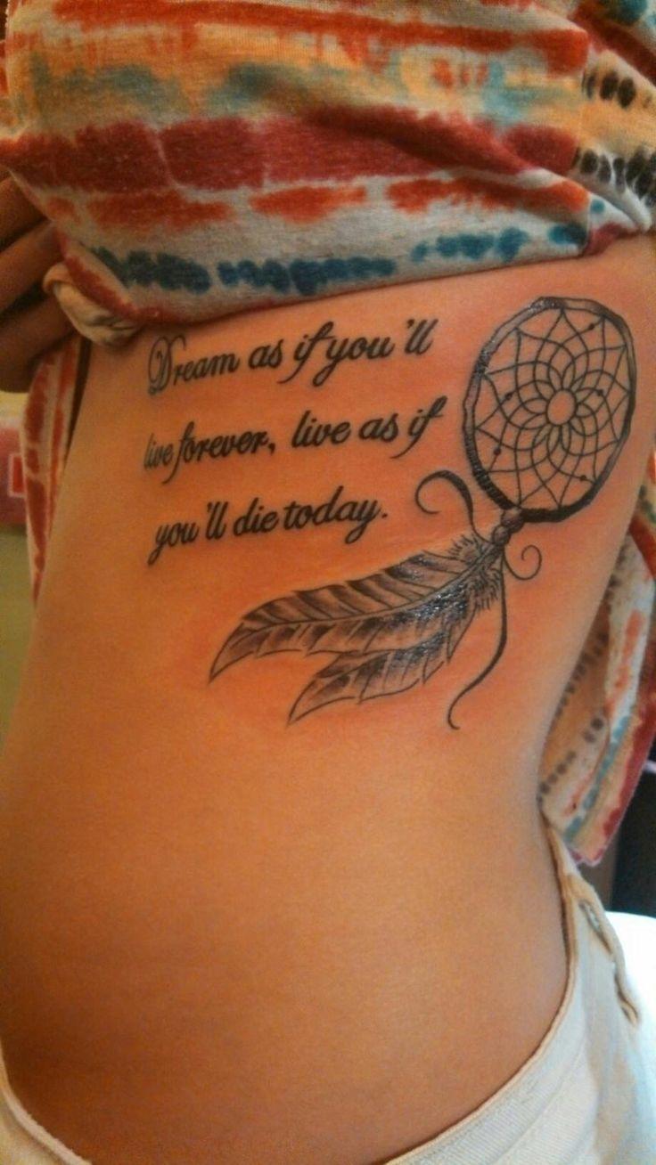 Frase Y Atrapasueños Tatuajes Para Mujeres