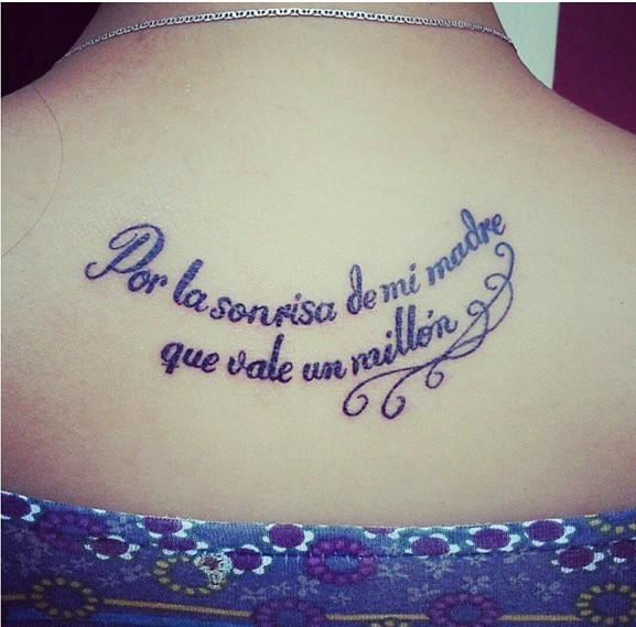 Frase Por La Sonrisa De Mi Madre Que Vale Un Millón Tatuajes Para
