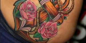 Ancla con Flores Rosas