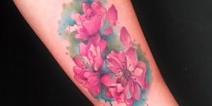 Flores de Cerezo estilo Acuarelas