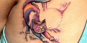 Gato estilo Acuarelas