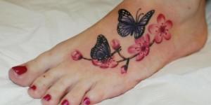 Mariposas y Flores de Cerezo